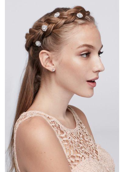 Flower Crystal Hair Spirals - Wedding Accessories