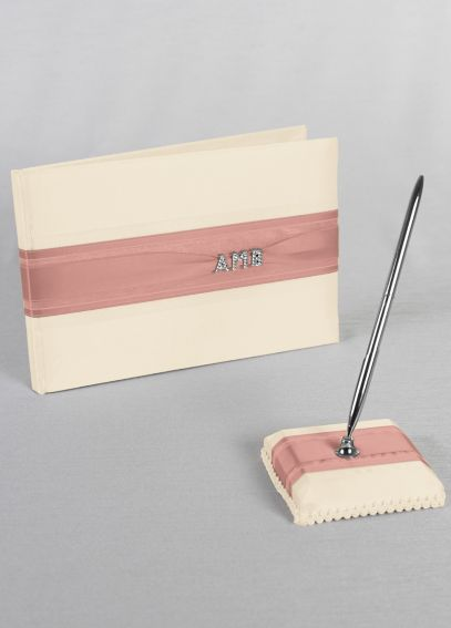 Exclusive Personalized Monogram Guest Book and Pen 10-3007