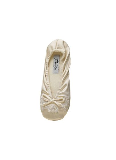 Touch Ups White (Molly Embellished Stretch Slippers)