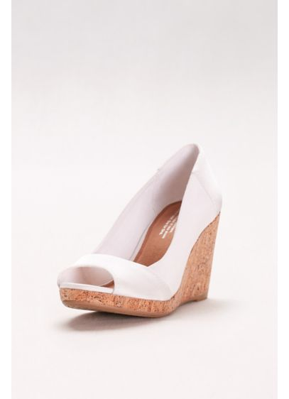 TOMS White (TOMS Grosgrain Wedges)