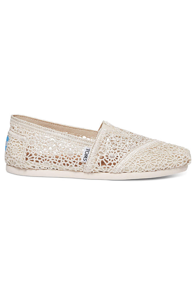 TOMS Crochet Classic Slip-On Shoe - Lightweight and cushiony, these crochet-fabric TOMS slip-on shoes