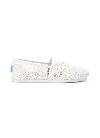 TOMS White (TOMS Lace Leaves Classic Slip-On Shoes)