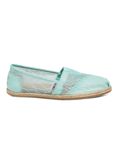 TOMS Green (TOMS Mint Lace Rope Classic Slip-On Shoe)