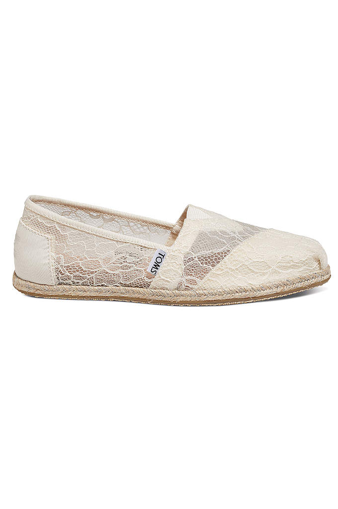 TOMS Lace Rope Classic Slip-On Shoe - Casual yet romantic, these comfortable lace TOMS slip-on