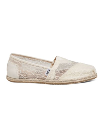 TOMS White (TOMS Lace Rope Classic Slip-On Shoe)