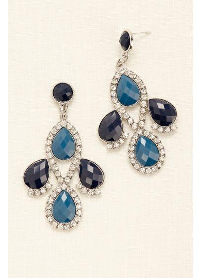 Teardrop Chandelier Earrings - Wedding Accessories