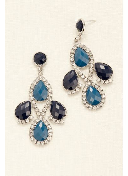 Teardrop Chandelier Earrings - Wedding Accessories