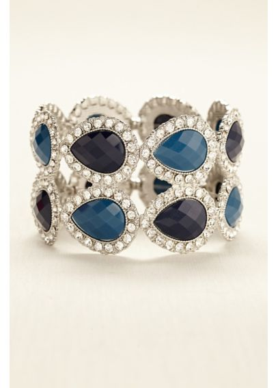 Two Row Gemstone and Crystal Bracelet 10034318BR