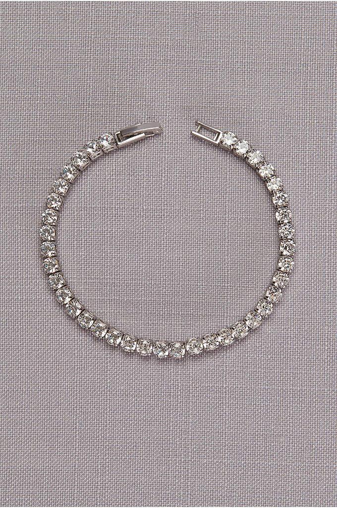 Delicate Cubic Zirconia Tennis Bracelet - This bracelet's breathtaking sparkle comes courtesy of brilliantly