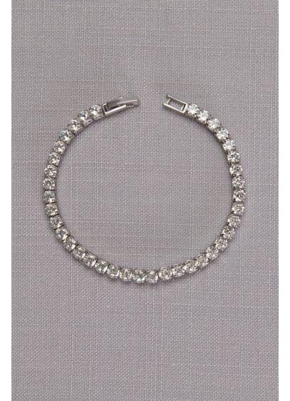 Delicate Cubic Zirconia Tennis Bracelet - Wedding Accessories