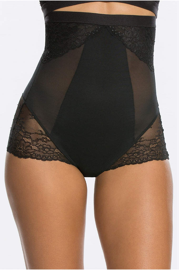 Spanx Spotlight On Lace High-Waisted Brief - Effective shaping and the prettiest lace detailing make