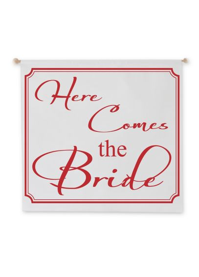 Here Comes the Bride Canvas Wedding Banner 1012B