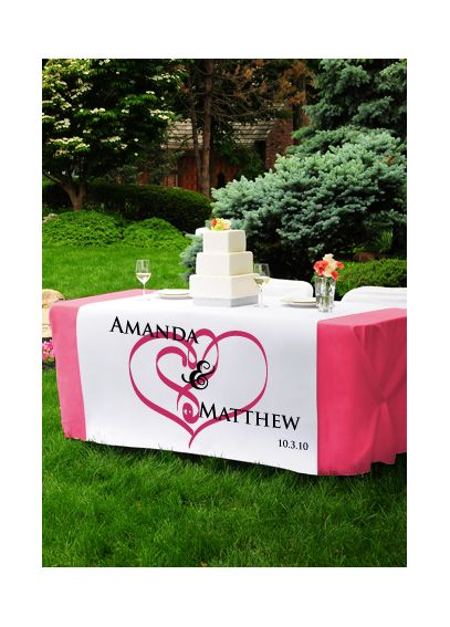Personalized Wedding Table Runner 1013
