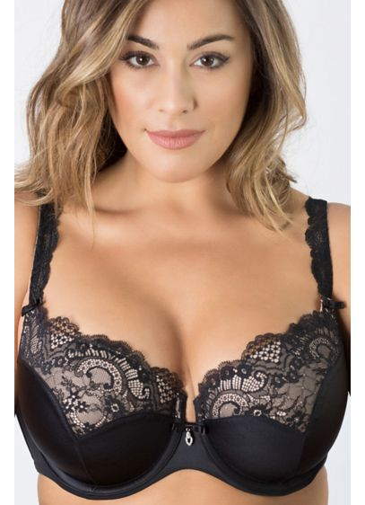 Curvy Couture Tulip Lace Push-Up Demi Bra - Wedding Accessories