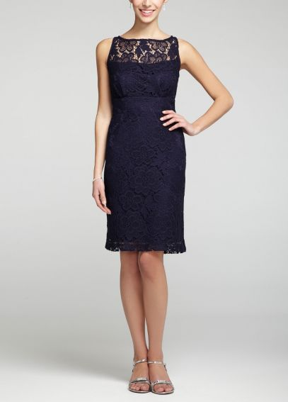 Sleeveless All Over Lace Short Dress 10424C