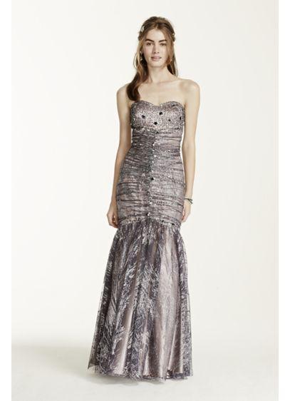 Long Mermaid/ Trumpet Strapless Prom Dress -
