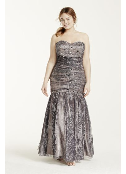 Long 0 Strapless Prom Dress - Jump