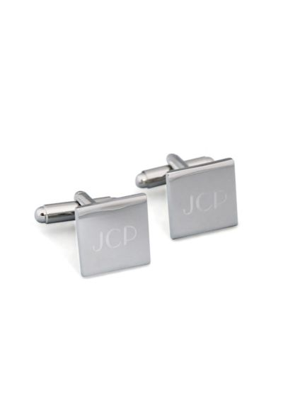 Personalized Silver Square Cufflinks - Wedding Gifts & Decorations