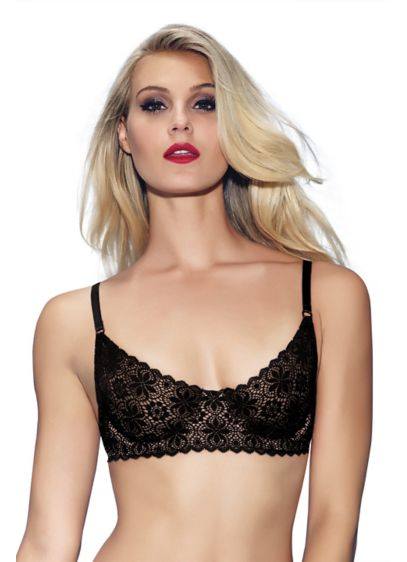 Jezebel Lulu Crochet Lace Demi Bra - Wedding Gifts & Decorations