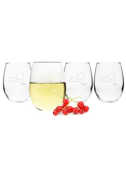 Home State Stemless Wine Glasses Set of 4 1110HS