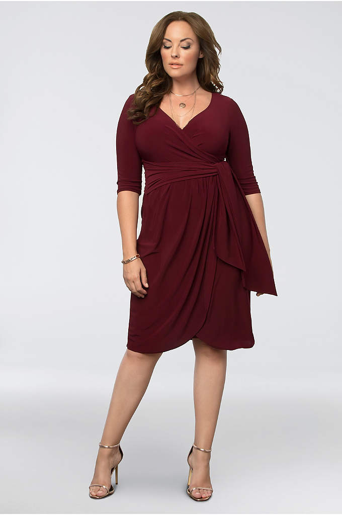 Harlow Plus Size Wrap Dress - You'll wear this timeless matte jersey cocktail dress