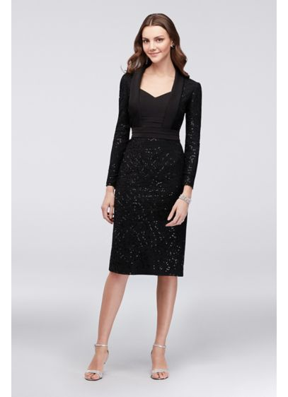 Short Sheath Long Sleeves Cocktail and Party Dress - SL Fashions