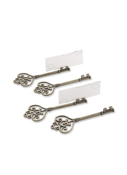 Key To My Heart Place Card Holder Set of 4 - Wedding Gifts & Decorations