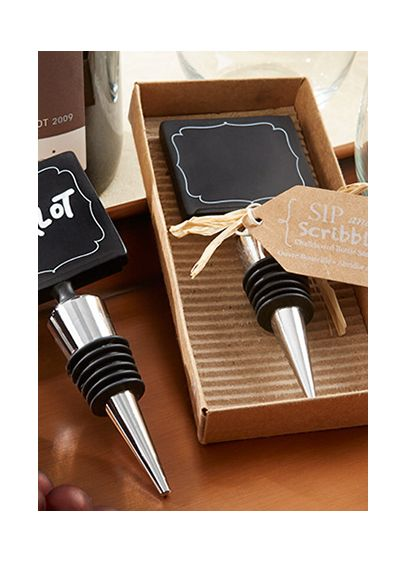 (Sip and Scribble Chalkboard Bottle Stopper)