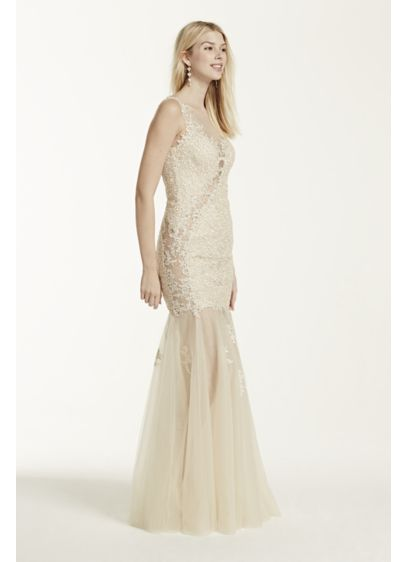 Long Mermaid/ Trumpet Tank Formal Dresses Dress - Glow