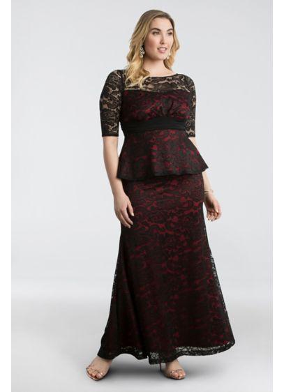 Long Sheath 3/4 Sleeves Formal Dresses Dress - Kiyonna