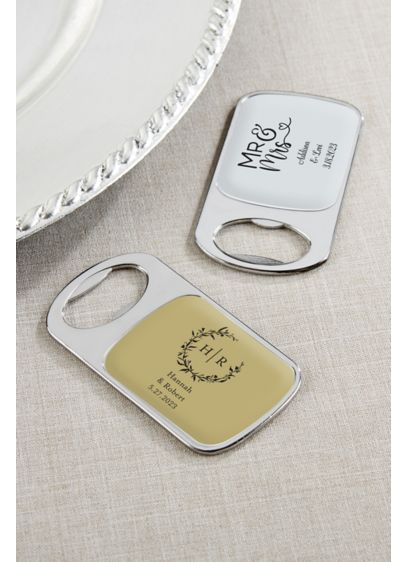 Personalized Bottle Opener with Epoxy Dome - Wedding Gifts & Decorations