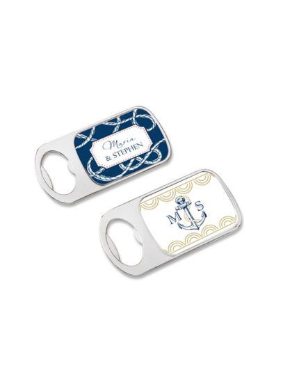 Personalized Epoxy Dome Nautical Bottle Opener - Wedding Gifts & Decorations