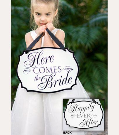 here comes the bride sign davids bridal