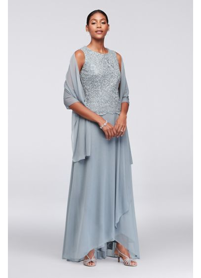 Long A-Line Elbow Sleeves Formal Dresses Dress - Alex Evenings