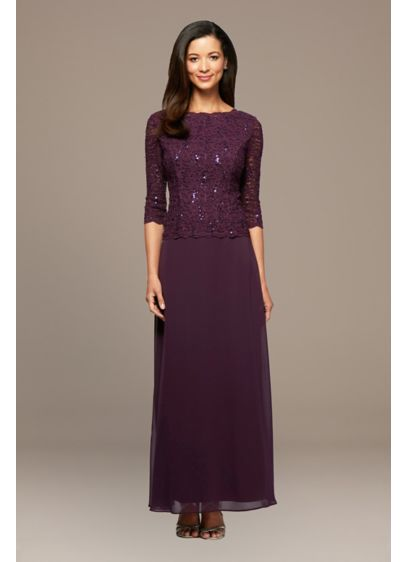 Long A-Line 3/4 Sleeves Formal Dresses Dress - Alex Evenings