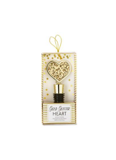 Yellow (Gold Glitter Heart Bottle Stopper)