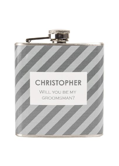 Personalized Striped Tie Pattern Flask 1134