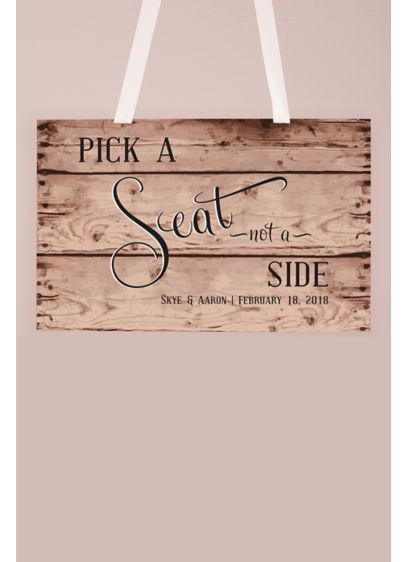 Personalized Rustic Pick A Seat Sign - Wedding Gifts & Decorations