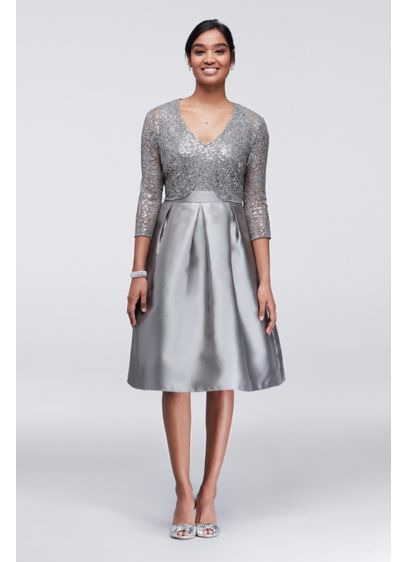 Short A-Line Jacket Cocktail and Party Dress - Ignite