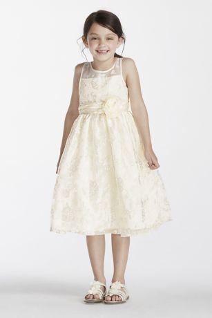 Organza Tea Length Dress