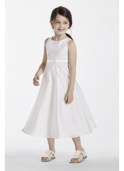 Short White Structured David's Bridal Bridesmaid Dress