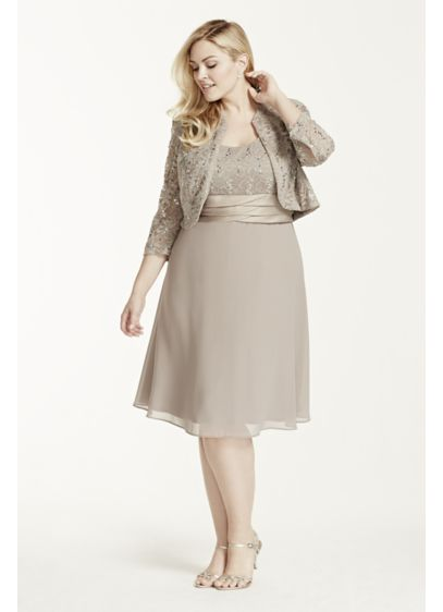 Short Sheath Long Sleeves Mother and Special Guest Dress - RM Richards