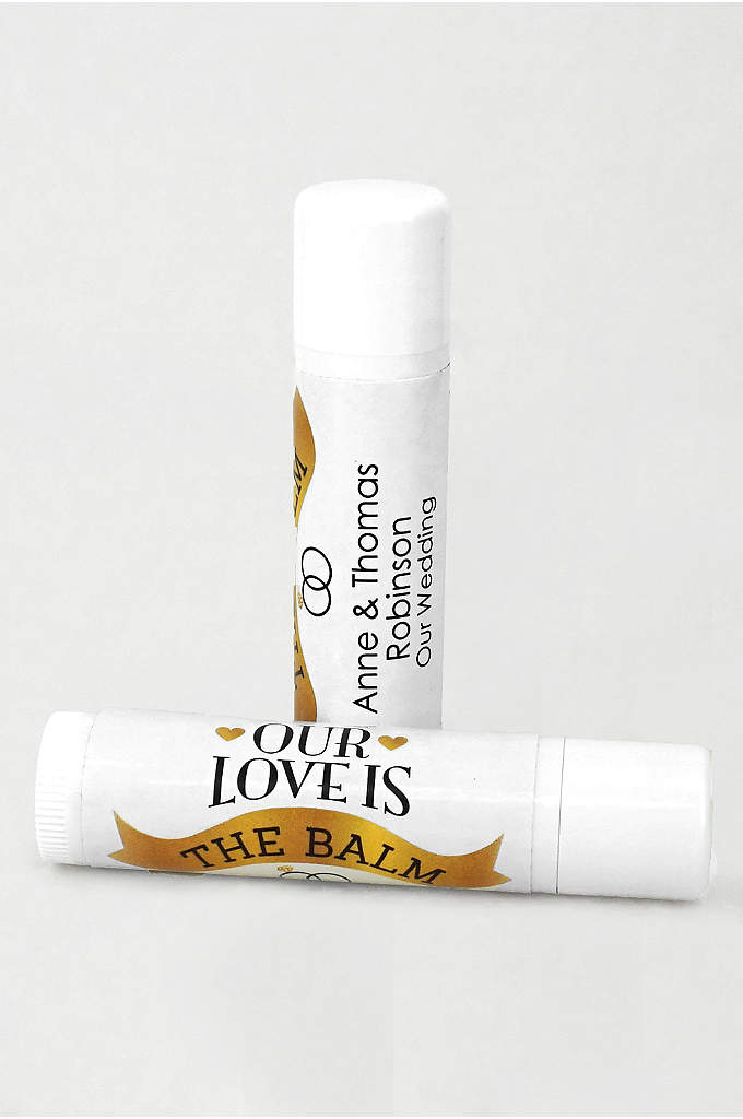 Personalized Wedding Favor Lip Balms - Show wedding guests your gratitude by quenching their