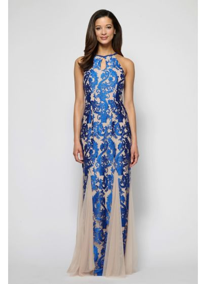 Long Mermaid/ Trumpet Halter Formal Dresses Dress - Alex Evenings
