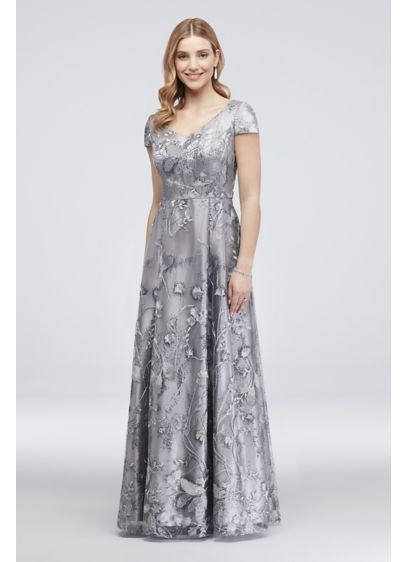 Long Ballgown Cap Sleeves Formal Dresses Dress - Alex Evenings