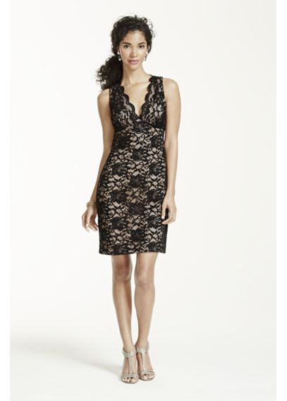 Sleeveless Lace Dress with Scallop Neckline 11881