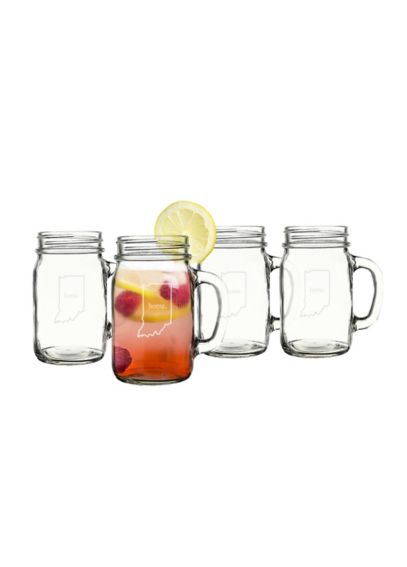 Home State Old Fashioned Drinking Jars Set of 4 1190HS