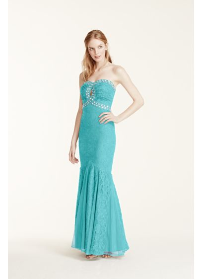 Long 0 Strapless Prom Dress - Morgan and Co