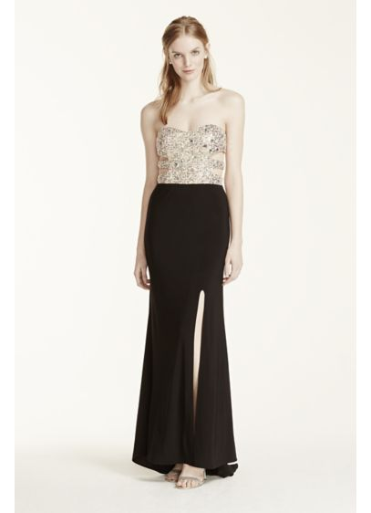 Long Sheath Strapless Prom Dress - Morgan and Co