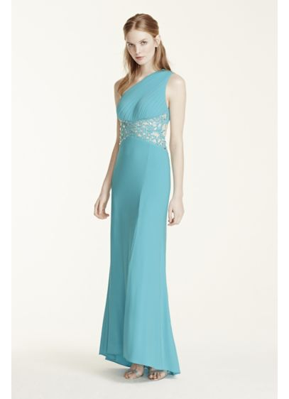 Long Sheath One Shoulder Prom Dress - Morgan and Co